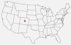 "Map: Colorado, setting of ""My Plateau"" by Beth Bates"